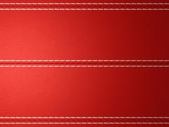 Stock Illustration of red horizontal stitched leather background