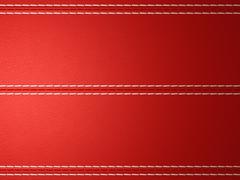Red horizontal stitched leather background Stock Illustration