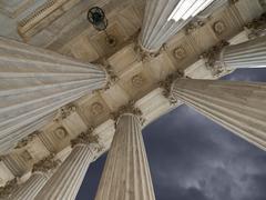 Us supreme court columns and storm Stock Photos