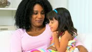 Single Mother Cute Pre School Child Stock Footage