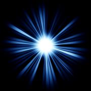 blue beams of light: shining star - stock illustration