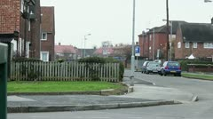 Council estate quiet day Stock Footage