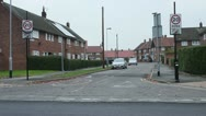Stock Video Footage of Slow 20mph Zone street council estate