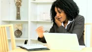 Female Home Business Consultant Good News Stock Footage