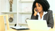 Ethnic Businesswoman Working From Home Stock Footage