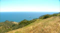Catalina Island Skyline Cruise Ship Stock Footage
