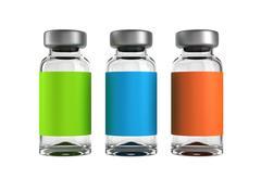 Three medical ampules isolated Stock Illustration