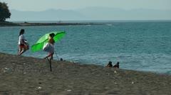 Vista Veranda Beach in San jose on Panay island in Philippines Stock Footage
