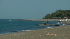 Vista Veranda Beach in San jose on Panay island in the Philippines Stock Footage