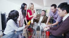 Dynamic young marketing team are brainstorming in a meeting - stock footage