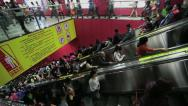 Stock Video Footage of Guangzhou Train Station 3 at Rush Hour 3
