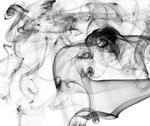 Complex abstract smoke patterns on white Stock Illustration