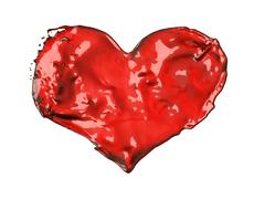 Love and romance: red liquid heart Stock Illustration