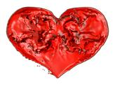 Love and romance: red fluid heart Stock Illustration