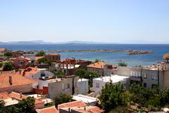 Coastal town in western turkey Stock Photos