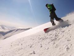Riding Snowboarder - stock footage