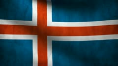 Iceland country flag - stock footage