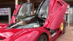 Ferrari at car show Stock Footage