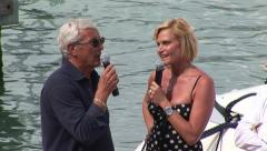 Marcello Lippi and Simona Ventura Stock Footage