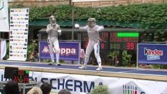 Fencing tournament Stock Footage