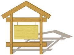 Wood billboard - stock illustration