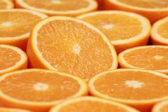 Ripe oranges Stock Photos