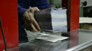 Print factory book packaging. Stock Footage