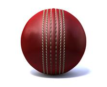 Cricket ball front Stock Illustration