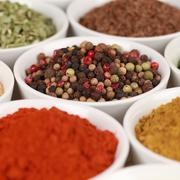 Pepper and other spices Stock Photos