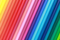 collection of color pencils - stock photo