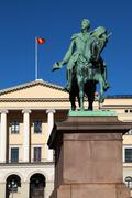 the royal palace in oslo - stock photo