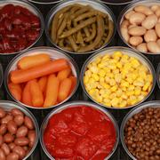 canned vegetables - stock photo