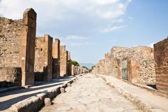 Pompeii - archaeological site Stock Photos