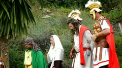 Taking of Christ 2, theatrical representation of the Passion - stock footage