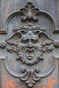 mysterious door - stock photo
