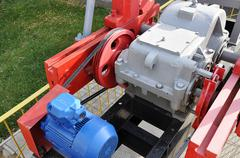 Componentry machine for petroleum extraction Stock Photos