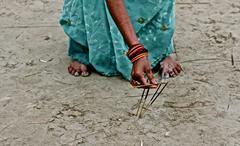 INDIA Kumbh Mela 2013 Allahabad incense Stock Photos
