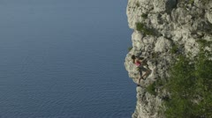 Beautiful Rock Climbing Stock Footage