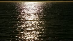 Moonlit Water Ripples Stock Footage