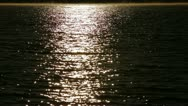 Stock Video Footage of Moonlit Water Ripples