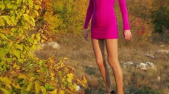 Pretty Woman In Nature Stock Footage