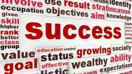 Stock Video Footage of Success creative words design