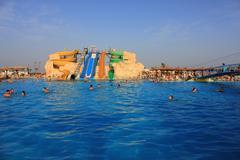 Aquapark sliders Stock Photos