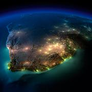Stock Illustration of night earth. south africa