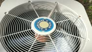 Stock Video Footage of heat pump fan spinning 3
