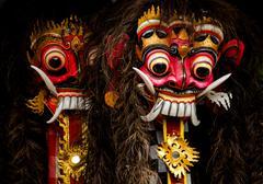 Balinese masks Stock Photos