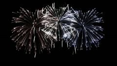Firework Display in loop-able animation. HD 1080. Stock Footage