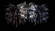 Stock Video Footage of Firework Display in loop-able animation. HD 1080.