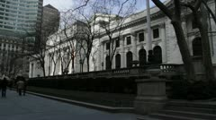 New York Public Library - Bryant Park 2 Stock Footage