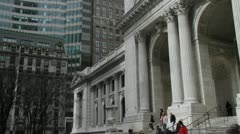 New York Public Library - Pan and tilt 1 Stock Footage